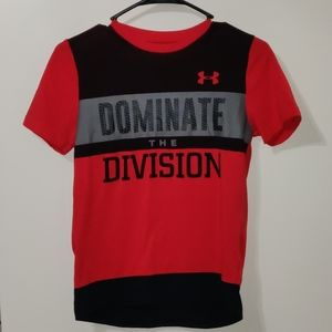Dominate The Division Under Armour Shirt Sz YouthM